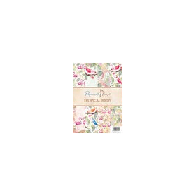 Wild Rose Studio's A4 Paper Pack Stripes and Tropical Birds a 40 VL PH008 (06-17)