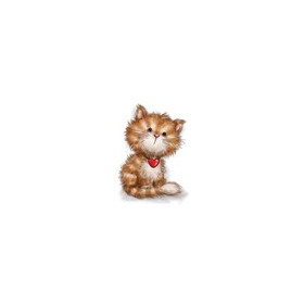 Wild Rose Studio's A7 stamp set Cat with Heart CL505 (06-17)