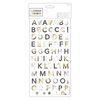 Alphabet Thicker Stickers (169pcs) - Elements Metallics