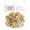 Metallic Adhesive Wooden Letters (81pcs) - Elements Metallics