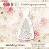 CW021 Die Wedding Dress - 8,5x4,3cm