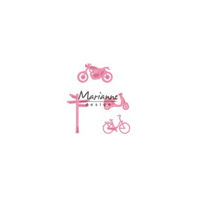 Marianne D Collectable Village decoration set bycicle COL1436  (08-17)