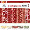 Card Deco - Designer Sheets - Autumn-Rood