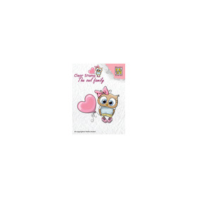Clear stamps The owl family Heart balloon