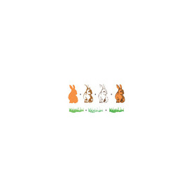Hobby solution 3D clear stamps Rabbits