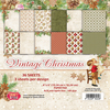 CPB-VC15 VINTAGE CHRISTMAS Small Paper Pad 6x6 , 36 sheets, 190gsm
