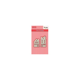 HSDJ022 Hobby Solutions Die Cut two houses