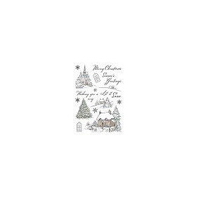Wild Rose Studio`s A5 stamp set Winter Cottages AS006 (08-17)