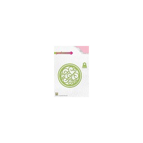 Nellies Choice Special Card Die - Christmas shake ball round CBD001 8,3x8,3cm