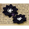 Prima - marketing- Chalk Board Flower Embellishments - black/white