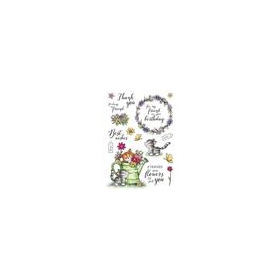 Wild Rose Studio's A5 stamp set Cats in the Garden AS008 (02-18)