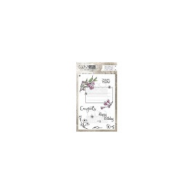 COOSA Crafts clearstamps A6 -Envelope Flowers A6 (Eng) COC-033