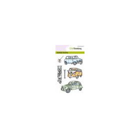 CraftEmotions clearstamps A6 - Classic Cars 1 (03-18)