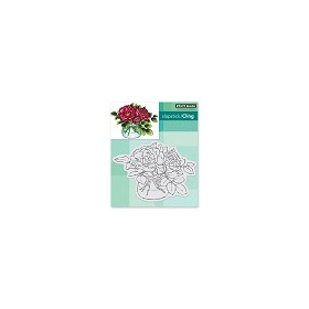 Slapstick/Cling Stamp Rose Bowl