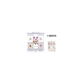 3D Card Embroidery Pattern Sheets NR. 19 with Ann & Sjaak + gratis pattern set