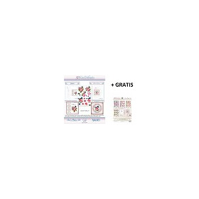 3D Card Embroidery Pattern Sheets NR. 20 with Ann & Sjaak + gratis pattern set