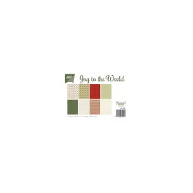 Papier Set A4 Papierset - Joy to the World (kerst)