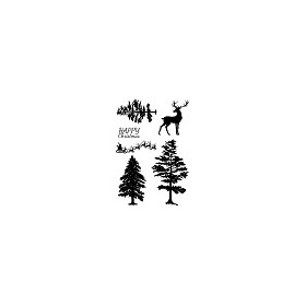 Woodware Clear Stamp Jane Gill Silhouette Forest