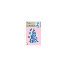 Nellie's Choice Shape Die Kerstboom en kerstballen SDB063  71x99mm (8-18)