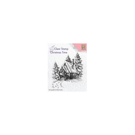 Nellies Choice Clearstempel - Christmas time Sneeuwhuis 2 CT022 68x80mm (8-18)