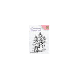 Nellies Choice Clearstempel - Christmas time Sneeuwman&konij CT026 56x80mm (8-18)