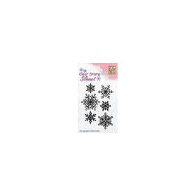 Nellie`s Choice Silhouette Clear Stamps 6 sneeuwvlokken SIL039 65x23mm (8-18)