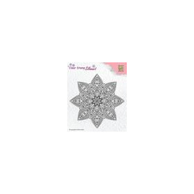Nellie's Choice Silhouette Clear Stamps Mandala 2 SIL040 62x25mm (8-18)