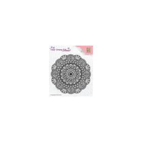 Nellie's Choice Silhouette Clear Stamps Mandala 3 SIL041 81x42mm (8-18)