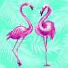 DIAMOND ART Kits 32x32cm FLAMINGO DUO