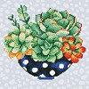 DIAMOND ART Kits 32x32cm SUCCULENT BOWL