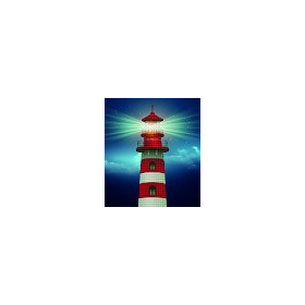 DIAMOND ART Kits 37x42cm LIGHT HOUSE