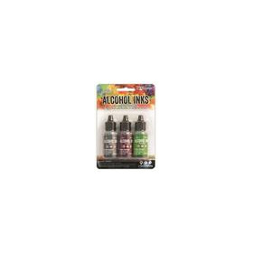 Ranger Alcohol Ink Kits  Cottage Path Slate, Current, Meadow  Tim20714 Tim Holtz 3x15ml