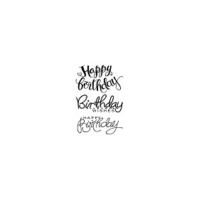 Woodware Clear Stamp Jane Gill Big Birthday Words
