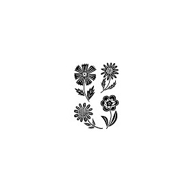 Woodware Clear Stamp Jane Gill Mini Blooms