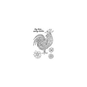 Woodware Clear Stamp Jane Gill Decorative Cockerel