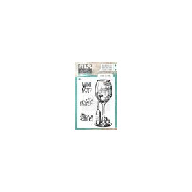 COOSA Crafts clearstamps A7 - Wine setting COC-063 (10-18)