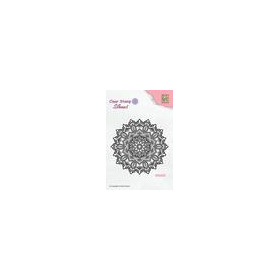 Nellie's Choice Silhouette Clear Stamps Mandala 4 SIL043 85x85mm (11-18)