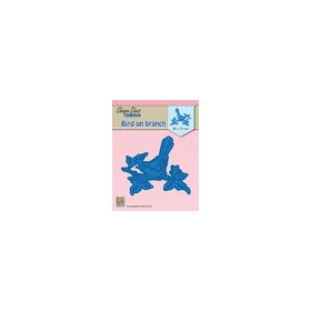 Nellie's Choice Shape Die vogel op tak SDB073 85x73 mm (01-19)