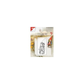 6410/0511 - Clearstempel - Kabouter met kind