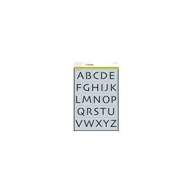 CraftEmotions stencil - alfabet hoofdletters Skia A4 - H=�35mm A4 (02-19)