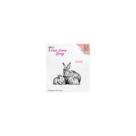 Nellies Choice Clearstempel - lente, konijnen familie SPCS010 60x46mm (03-19)