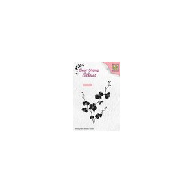 Nellies Choice Clearstempel - Silhouette tak met bloemen SIL053 48x70mm (03-19)