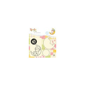 Nellies Choice DADA Die with clear stamp Its a boy - op de maan DDCS011 52x55mm (03-19)