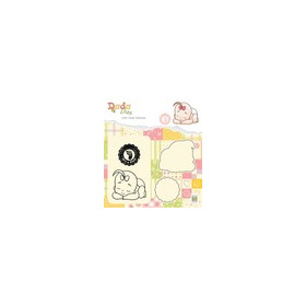 Nellies Choice DADA Die with clear stamp Its a girl: slapen DDCS013 47x41mm (03-19)