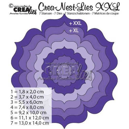 Crealies Crea-nest-Lies XXL no. 1 stans bloem rond