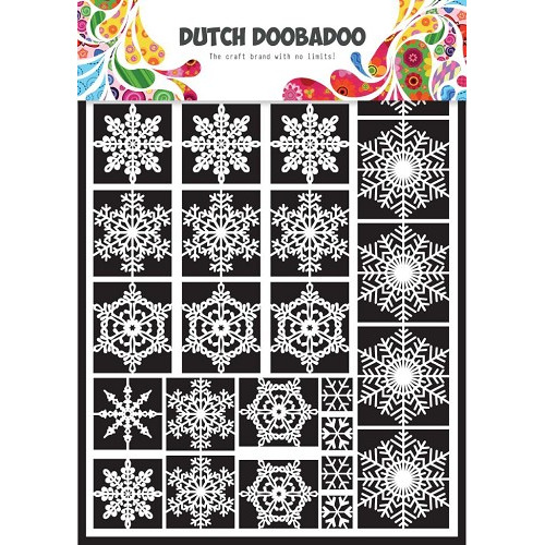 1 ST (1 VL) Dutch Paper Art snowflakes - A5