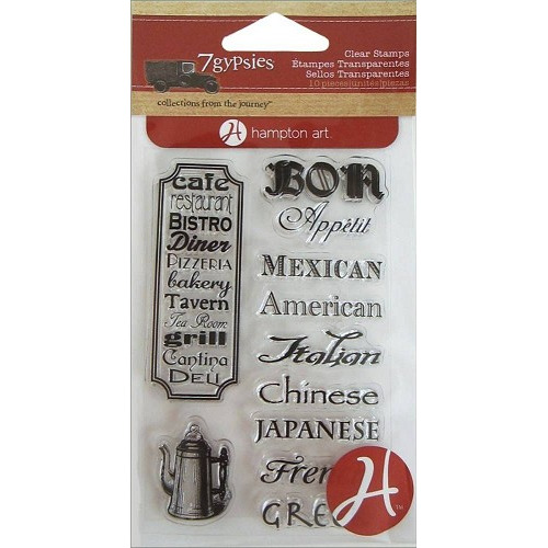 7Gypsies Cuisines Clear Stamps (SC0520)