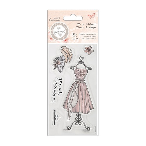 75 x 140mm Mini Clear Stamp - Bellisima - Dress
