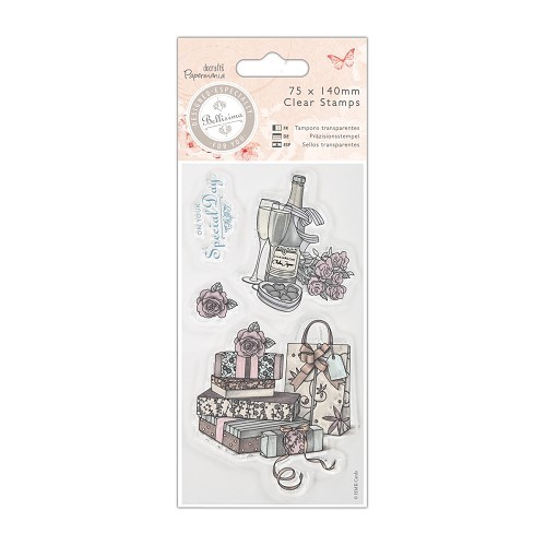 75 x 140mm Mini Clear Stamp - Bellisima - Celebrate
