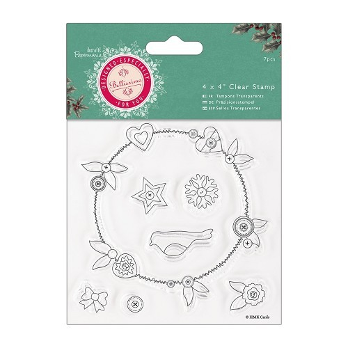 4 x 4 Clear Stamp - Bellissima Christmas